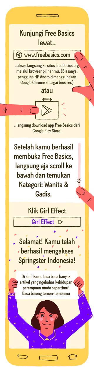 Cara Mengakses Girl Effect di Free Basics